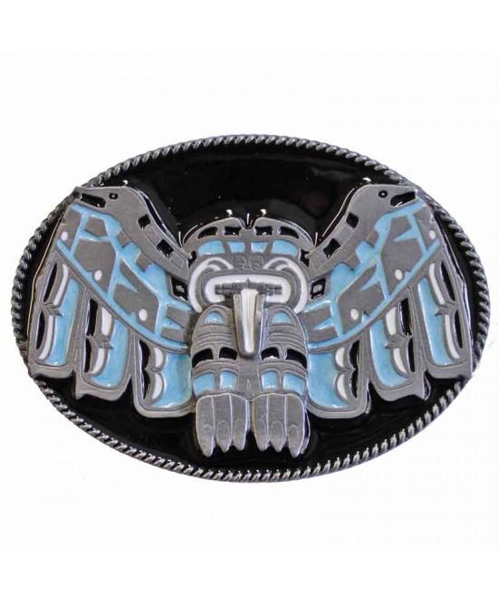 Belt Buckle - Western Totem Black
