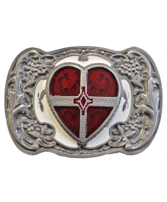 Belt Buckle - Red Heart