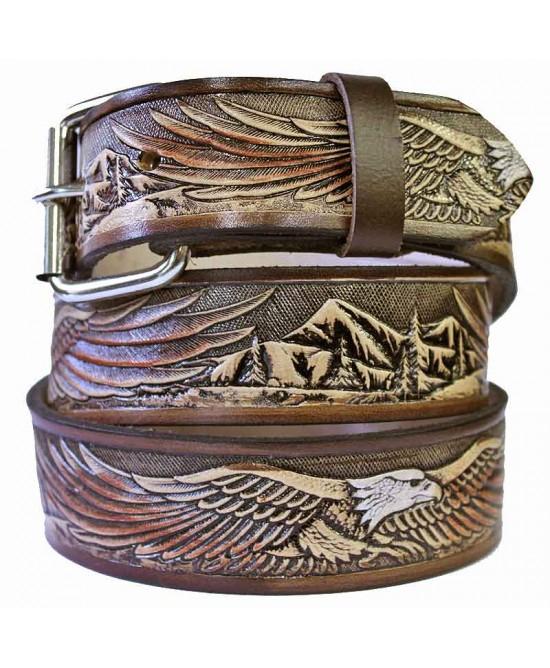 Leather Belt - Flying Eagle Brown
