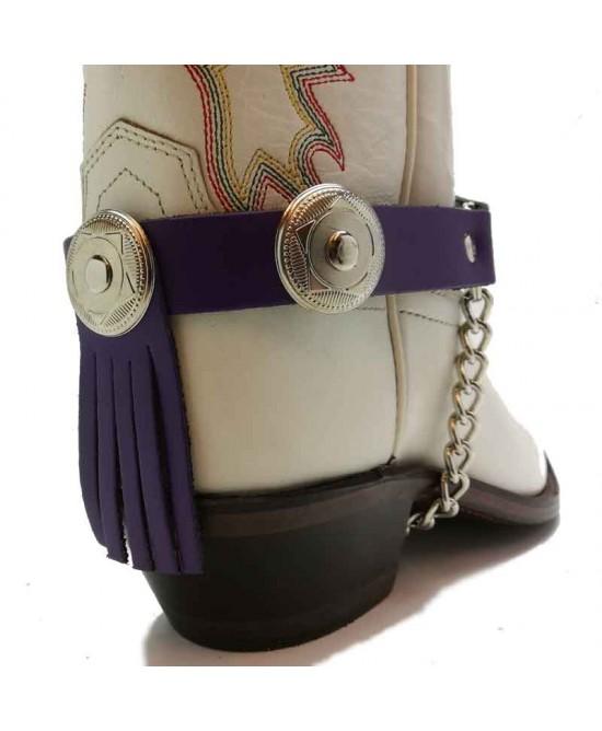 Boot Strap - Back Fringe Purple