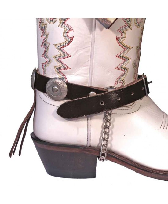 Boot Strap - Back Fringe Dark Brown