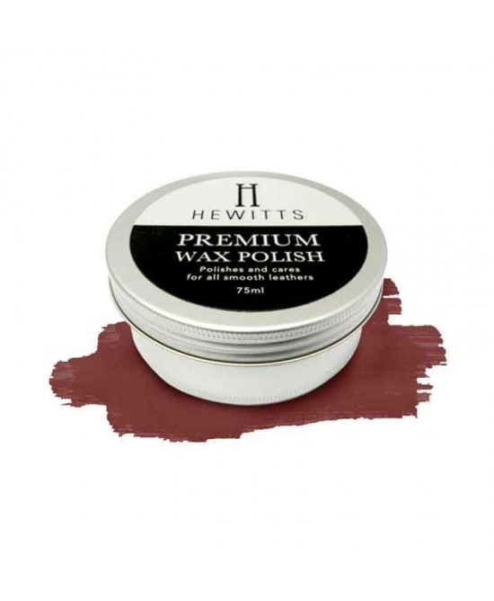 Hewitts Premium Wax Polish - Oxblood