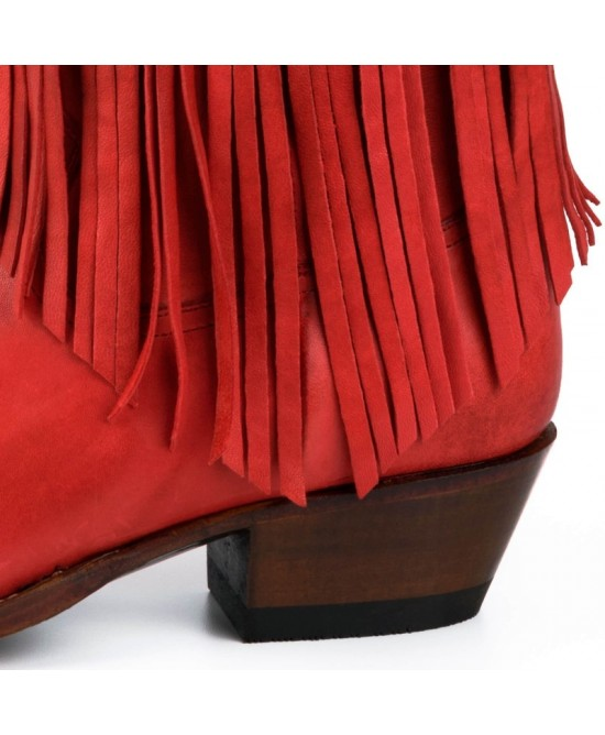 Mayura - Vintage Red with Fringes - 2374