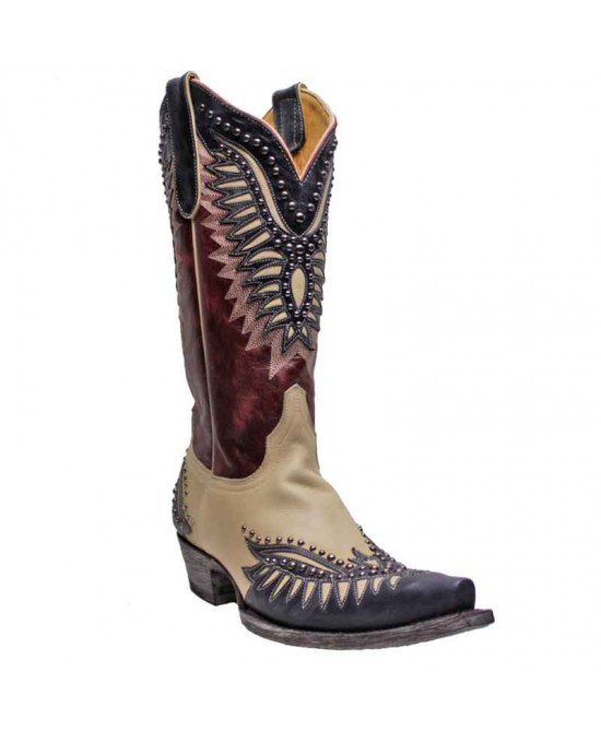 Old Gringo - Red and Beige - L3292-1