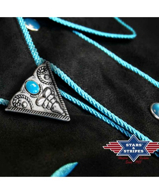 Stars & Stripes - Collar Tip Turqoise