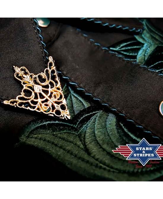 Stars & Stripes - Collar Tip Brass